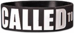 Wide Silicone Wristband: Called