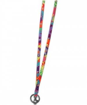 Colorful Crosses Lanyard