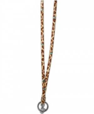 Leopard / Crosses Lanyard
