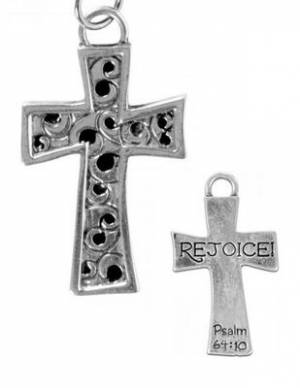 Necklace: Rejoice Cross