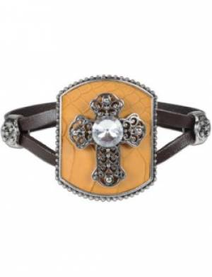 Womens Bracelet Cross Rhinestone