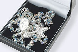 Sterling Silver and Crystal Rosary