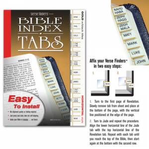 Bible Index Tabs Gold