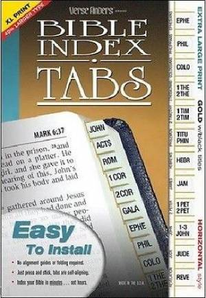 Bible Index Tabs XL Gold