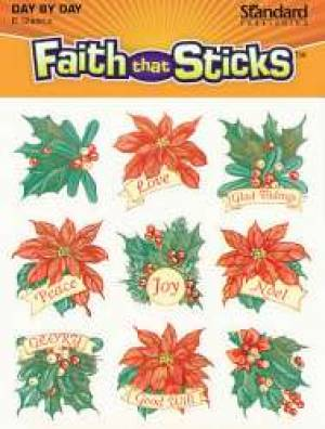 Christmas Poinsettia Stickers