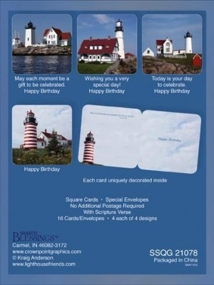 BOXED CARD BIRTHDAY LIGHTHOUSE