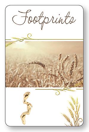Footprints Laminated Prayer Card Pack of 12