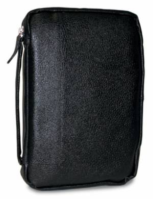 BIBLE COVER LEATHER BLACK XL