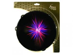 """Starburst Tambourine Purple 10"""""""