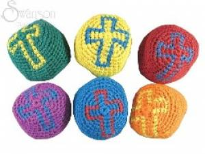 Religious Cross Knitted Balls