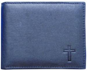 Wallet Black Leather Cross