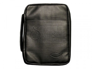 Bible Cover Black Fish Lg