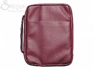 Bible Cover Burgundy Fish Lg