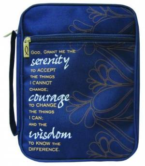Bible Cover Serenity Prayer Canvas Medium