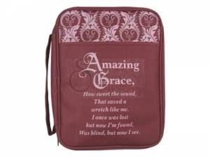 Bible Cover Amazing Grace Med