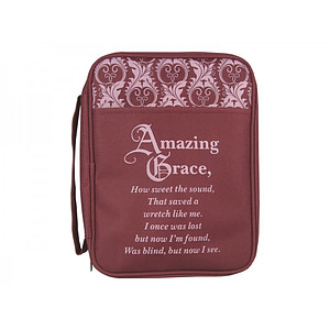 Bible Cover Amazing Grace Canvas Large