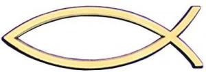 Fish Car Badge Gold