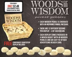 Woods of Wisdom Pocket Pebbles Pack of 48