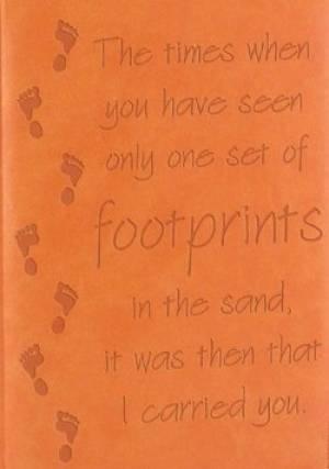 Journal: Footprints Orange