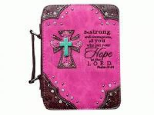 Fashion Bible Cover Hope Hot Pink