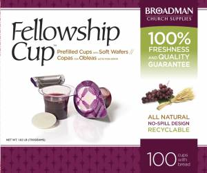 Fellowship Cup Box of 100 - Prefilled Communion Bread & Cup