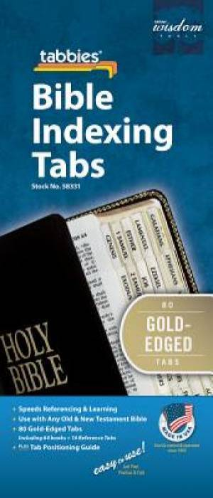 Bible Index Tabs Regular Gold
