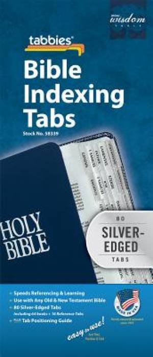 Bible Index Tabs Regular Silver