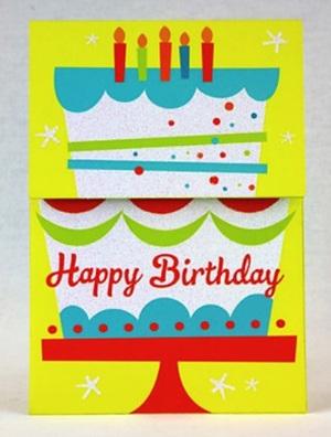 Happy Birthday Yellow Reveal Card