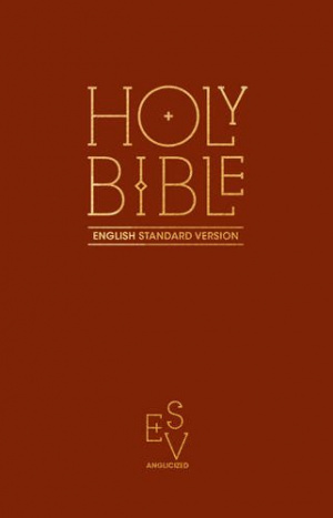 English Standard Version (ESV) Anglicised Pew Bible (Burgundy Colour)