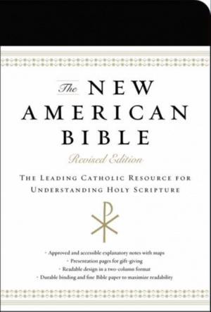 NAB Revised Edition Catholic Bible Imitation Leather Black