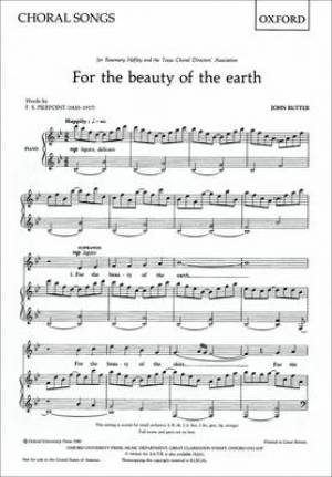 For the Beauty of the Earth SS (or SA) Vocal Score