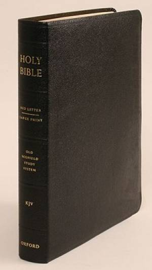 KJV Old Scofield Study Bible Large Print Edition Leather Black
