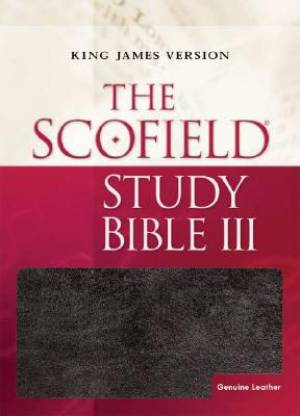 KJV Scofield Study Bible 3 Black Genuine Leather Thumb Indexed