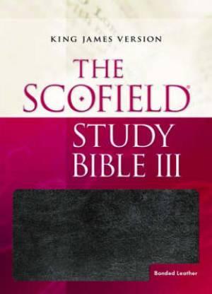 KJV Scofield Study Bible III: Black/burgundy, Bonded Leather Basketweave