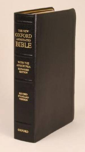 RSV New Oxford Annotated Bible With Apocrypha Expanded Leather Black