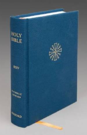 RSV Catholic Compact Bible: Blue, Hardback