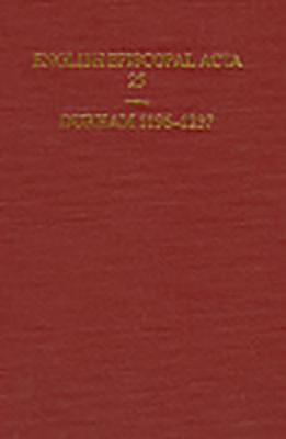 English Episcopal Acta Durham 1196-1237