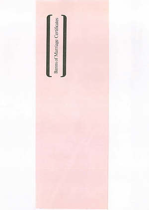Banns of Marriage Certificate Book Mb6