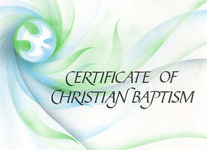 Ecumenical Certificate of Baptism - Pack of 20
