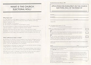 Application for Enrolment on the Electoral Roll SG1 - Pack of 30