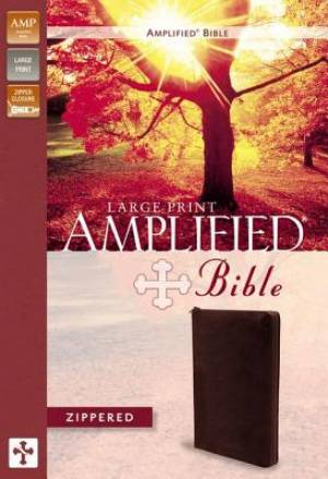 Amplified Zippered Collection Bible, Burgundy, Large Print