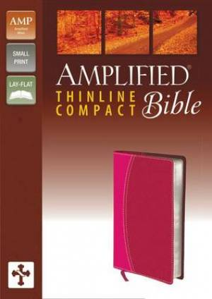 Amplified Thinline Bible Compact Pink Imitation Leather