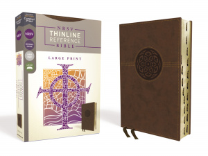 NRSV, Thinline Reference Bible, Large Print, Leathersoft, Brown, Indexed, Comfort Print
