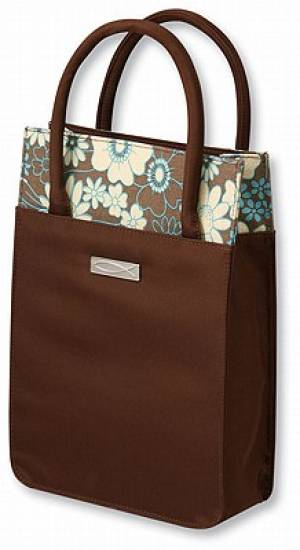 Venti Tote Bible Bag: Azure Bloom, Large