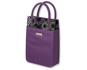 Venti Tote Bible Bag: Purple & Spirals, Large