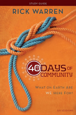 40 Days Of Community Study Guide Pb