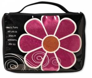 Flower Sparkle Pink Bible Case Medium