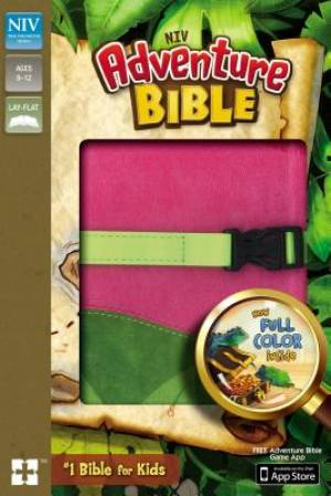 NIV, Adventure Bible, Imitation Leather, Pink/Green, Full Color