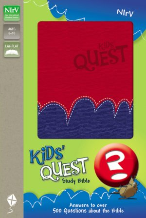 NIrV Kids Quest Study Bible: Red/Purple, Imitation Leather