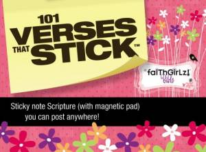 101 Verses that Stick for Girls based on the NIV Faithgirlz! Bible, Revised Edition